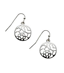 Vera Bradley® Silvertone Delicate Openwork Earrings
