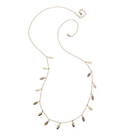 Vera Bradley® Goldtone Pave Leaf Long Necklace