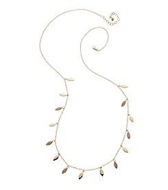 Vera Bradley® Goldtone Pave Leaf Long Necklace