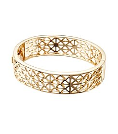 Vera Bradley® Goldtone Geo Bangle Bracelet