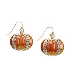 Studio Works® Goldtone Pumpkin Fishhook Earrings