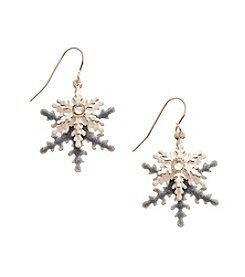 Studio Works® Silvertone Layered Faux Crystal Drop Earrings
