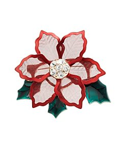 Studio Works® Red Poinsettia Mesh Pin