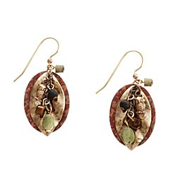 Silver Forest® Goldtone Bead And Charm Cascade Earrings