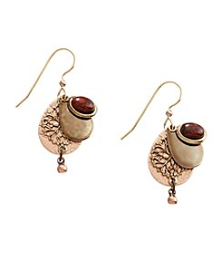 Silver Forest® Two Tone Layered Tears With Filigree And Jasper Earrings