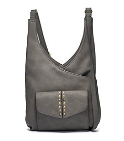 GAL Grainy Pebble With Studs Triple Entry Crossbody