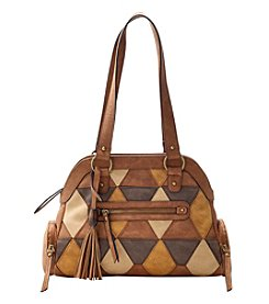 GAL Diamond Sueded Patch Dome Satchel
