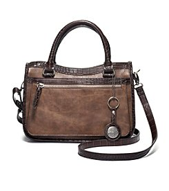 GAL Textured Satchel With Contrast Trim