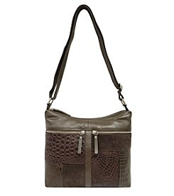 Great American Leatherworks Leather Patch Front Hobo Crossbody