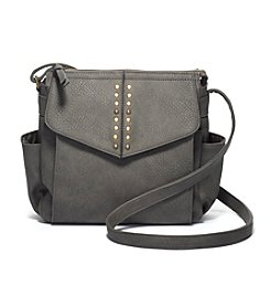 GAL Grainy Pebble With Studs Flap Crossbody
