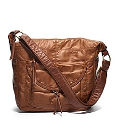 GAL Washed Two Toned With Lacing Large Crossbody