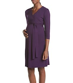 Three Seasons Maternity™ Surplice Solid Knit Dress