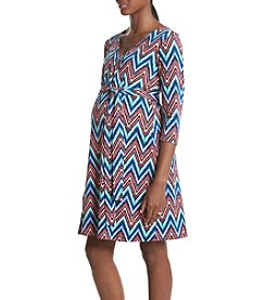Three Seasons Maternity™ Chevron Print Surplice Dress