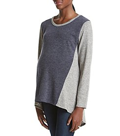 Three Seasons Maternity™ Color Block High Low Hem Top