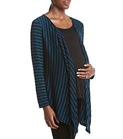 Three Seasons Maternity™ Striped Layered Look Cardigan