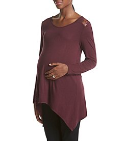 Three Seasons Maternity™ Lace Yoke Sharkbite Tunic