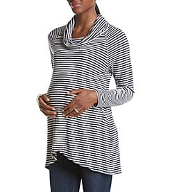 Three Seasons Maternity™ Stripe Cowl Neck Top With Tulip Bottom