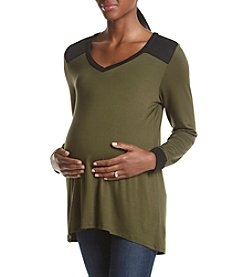 Three Seasons Maternity™ V-Neck High Low Tunic