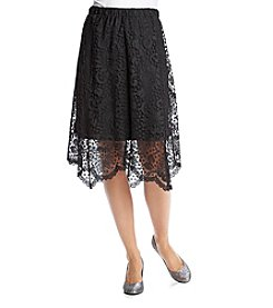 Relativity® Lace Midi Skirt