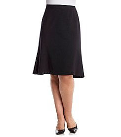 Nine West® Plus Size Solid A-Line Skirt