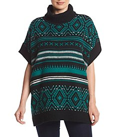 Relativity® Cowl Neck Poncho Sweater