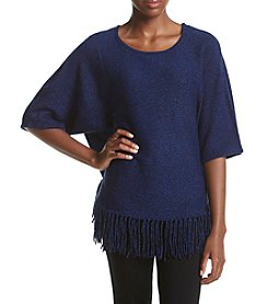 Relativity® Marled Fringe Sweater