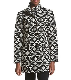 Chelsea & Theodore® Printed Funnel Neck Coat