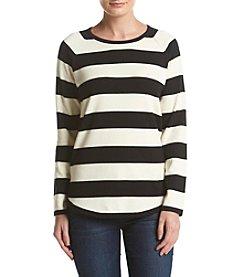 Jeanne Pierre® Stripe Crew Neck Sweater