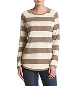 Jeanne Pierre® Stripe Crew Neck Sweater