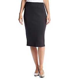 Cupio Solid Pencil Skirt