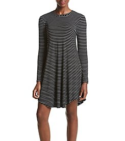 Cupio Stripe Tee Shirt Dress