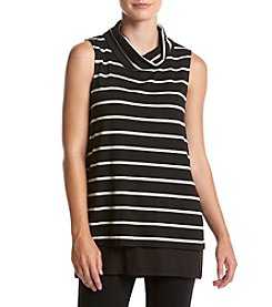 Cupio Stripe Turtleneck Tank
