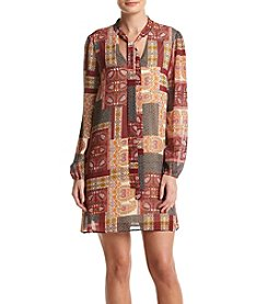 DR2 by Daniel Rainn™ Printed Peasant Dress