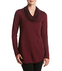 Cupio Stripe Cowl Neck Top