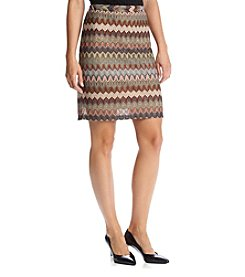 Cupio Chevron Print Pencil Skirt