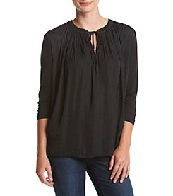 Chelsea & Theodore® Solid Split Neck Top