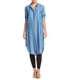 Chelsea & Theodore® Denim Roll Sleeve Dress