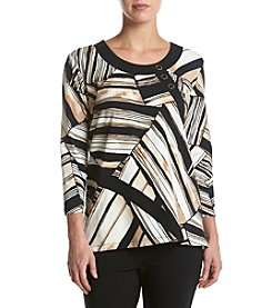 Alfred Dunner® Patchwork Spliced Knit Top