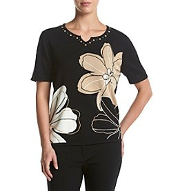Alfred Dunner® Exploded Floral Print Sweater