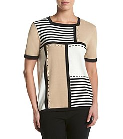 Alfred Dunner® Colorblock Stripe Sweater
