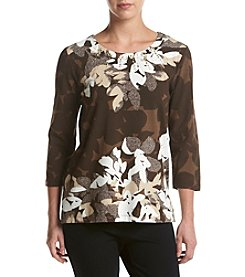 Alfred Dunner® Novelty Floral Print Knit Top