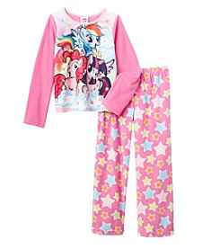 My Little Pony® Girls' 4-10 2-Piece My Little Lovely Ponies Pajama Set