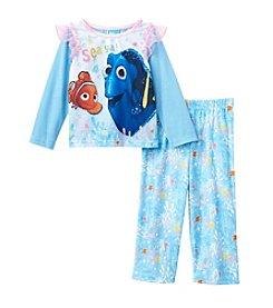 Disney® Girls' 2T-4T 2-Piece Finding Dory™ Sea Ya! Pajama Set