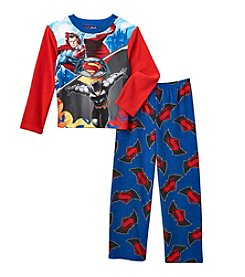 Warner Bros. Boys' 4-10 2-Piece Batman Vs. Superman Battle Pajama Set