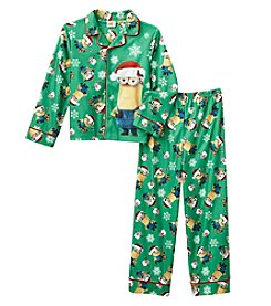 Universal® Boys' 4-10 2-Piece Holiday Minions Pajama Set