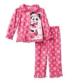 Disney® Girls' 2T-4T 2-Piece Cool Minnie Pajama Set