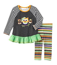 Bonnie Jean® Baby Girls' 2-Piece Boo Owl Tunic And Leggings Set