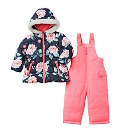 Carter's® Baby Girls' 2-Piece Floral Jacket And Snowpants Set