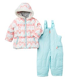 Carter's® Baby Girls' 2-Piece Geo Jacket and Snow Pants Set