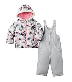 OshKosh B'Gosh® Baby Girls' 2-Piece Floral Jacket And Snowpants Set